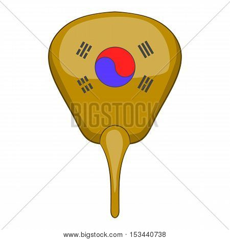 Korean hand fan icon. Cartoon illustration of fan vector icon for web design