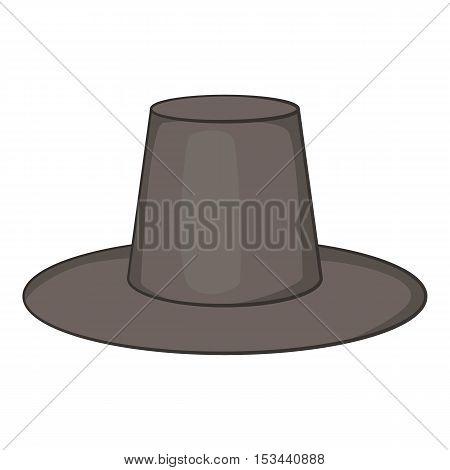 Traditional korean hat icon. Cartoon illustration of hat vector icon for web design