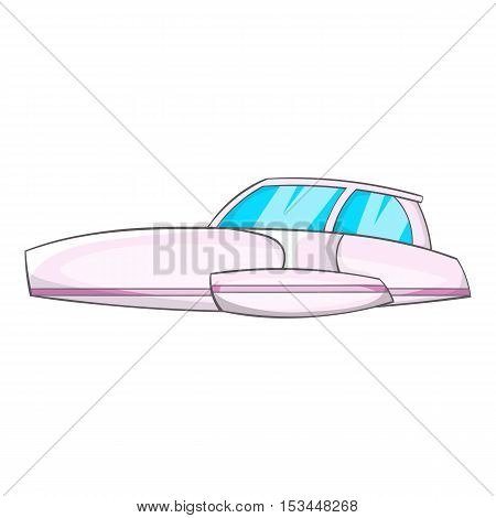 Motor boat icon. Cartoon illustration of motor boat vector icon for web