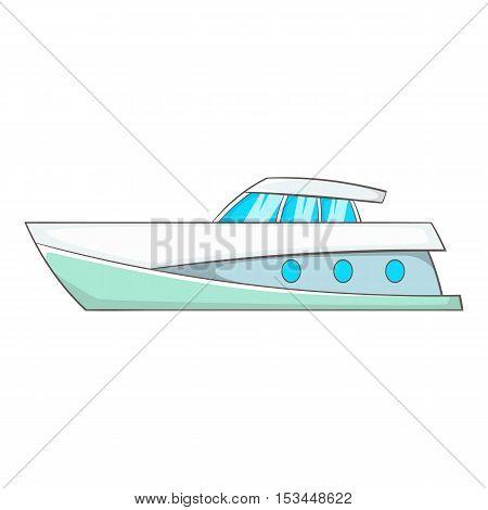 Big yacht icon. Cartoon illustration of big yacht vector icon for web