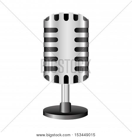 single microphone icon image vector illustration design