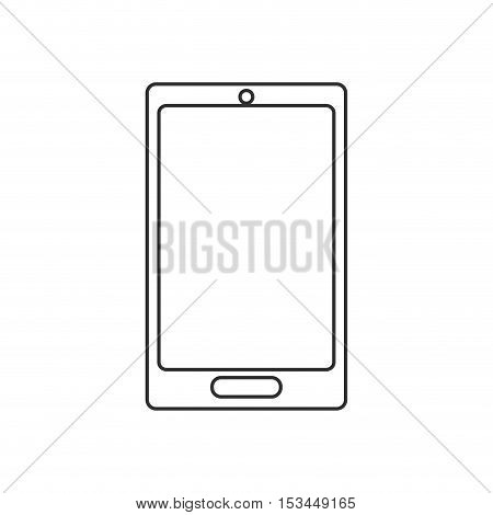 Smartphone icon. device gadget technology theme. Isolated design. Vector illustration