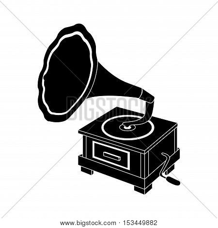 gramophone vintage icon image vector illustration design