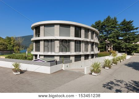 Architecture from Switzerland, exterior of a modern building