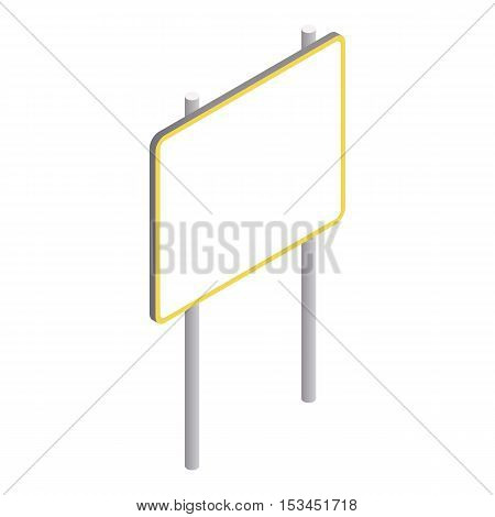 Advertising sign icon. Isometric 3d illustration of advertising sign vector icon for web