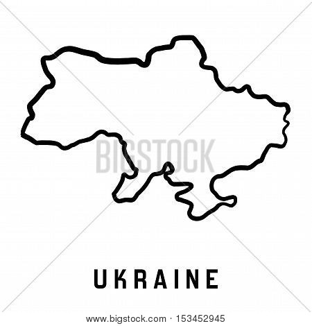 Ukraine Map Outline