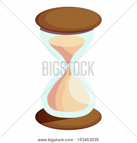 Hourglass icon. Cartoon illustration of hourglass vector icon for web