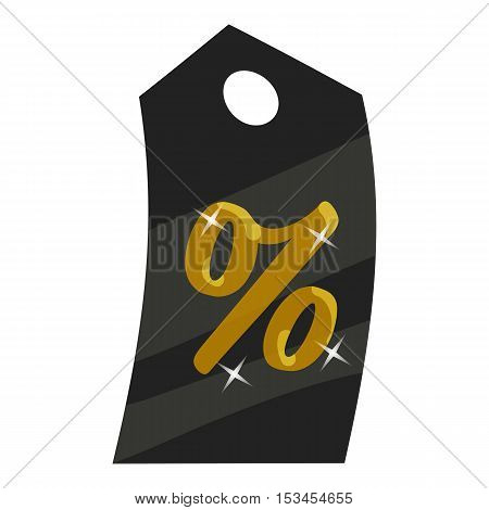 Tag percentage icon. Cartoon illustration of tag percentage vector icon for web