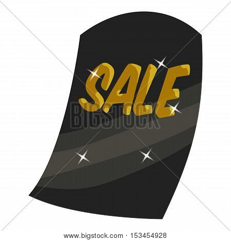 Black tag sale icon. Cartoon illustration of black tag sale vector icon for web