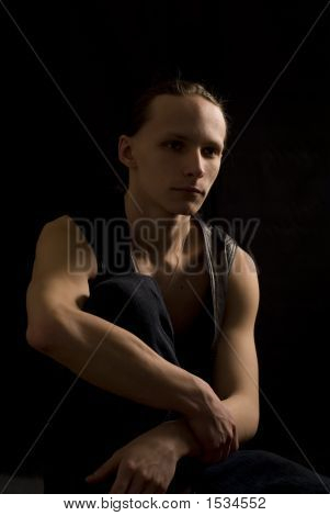 Dark Portrait Of A Man I