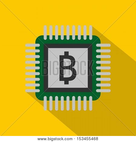 Chip icon. Flat illustration of chip vector icon for web