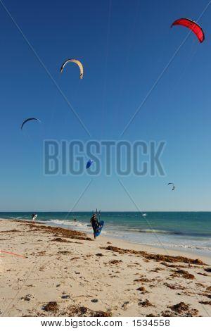 5 Kite Surfers