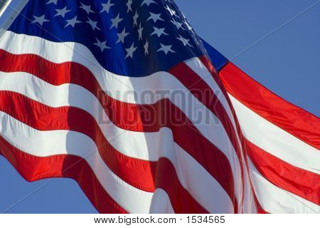 Tilted Us Flag