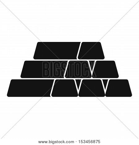 Gold bar icon. Simple illustration of gold bar vector icon for web