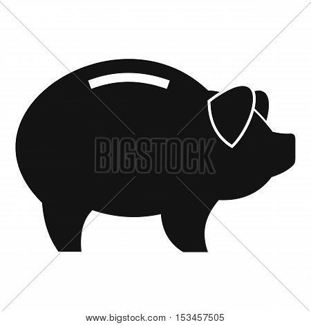 Piggy icon. Simple illustration of piggy vector icon for web