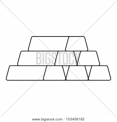 Gold bar icon. Outline illustration of gold bar vector icon for web
