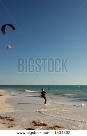 Lone Kite Surfer