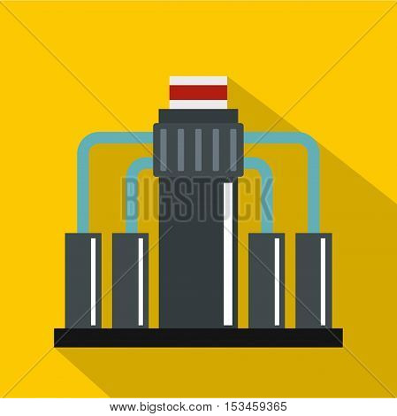 Oil refining icon. Flat illustration of oil refining vector icon for web