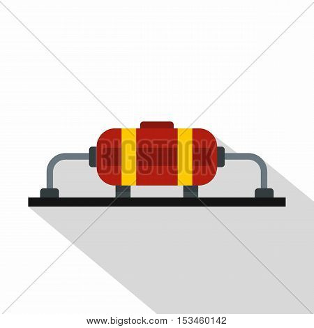 Oil production icon. Flat illustration of oil production vector icon for web
