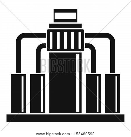Oil refining icon. Simple illustration of oil refining vector icon for web
