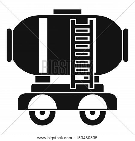 Waggon storage tank with oil icon. Simple illustration of waggon storage tank with oil vector icon for web