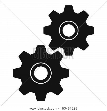 Gear icon. Simple illustration of gear vector icon for web