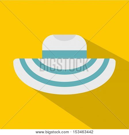 Women beach hat icon. Flat illustration of women beach hat vector icon for web