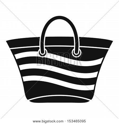 Women beach bag icon. Simple illustration of women beach bag vector icon for web