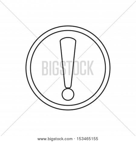 Exclamation mark icon. security system warning and protection theme. Isolated design. Vector illustration