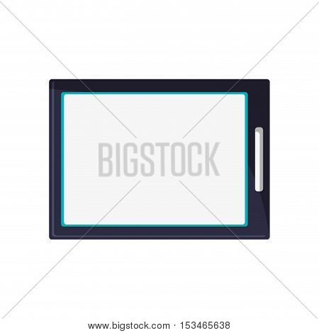 Tablet icon. device gadget technology theme. Isolated design. Vector illustration