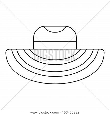 Women beach hat icon. Outline illustration of women beach hat vector icon for web