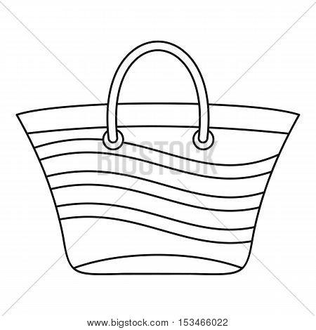 Women beach bag icon. Outline illustration of women beach bag vector icon for web