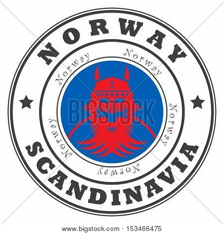 Grunge rubber stamp with word Norway, Scandinavia inside, vector illustration