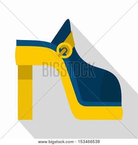 Women shoe icon. Flat illustration of women shoe vector icon for web