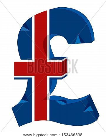 The Symbol of the money to great britain.Vector illustration