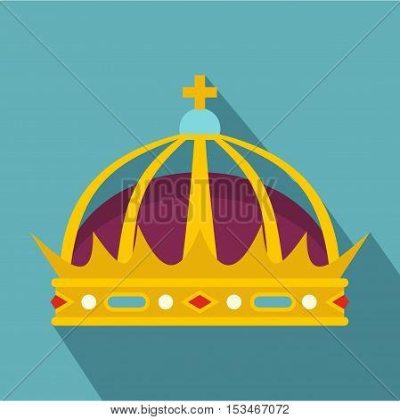 Crown icon. Flat illustration of crown icon for web