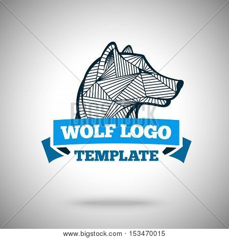 Vector wolf logo template for sport teams, business etc.
