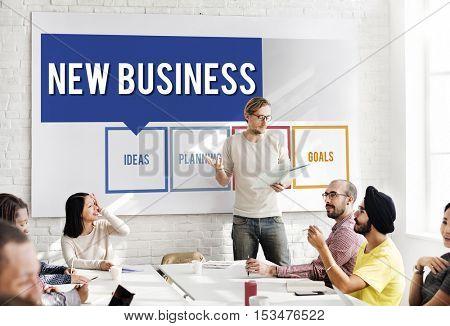 Business Box Words Diagram Concept
