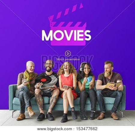 Media Movie Entertainment Graphic Concept