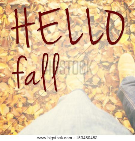 Hello Fall Inspirational Message