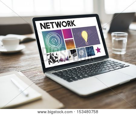 Network Technology Cyberspace Concept