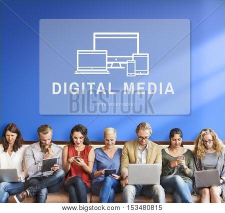 Digital Media Design Innovation Computer Concept
