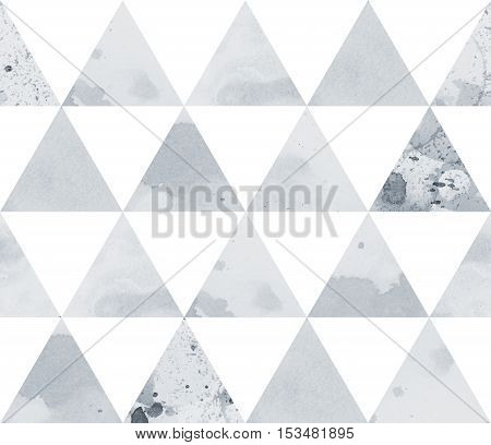Black and white geometric sacral polygonal grunge textured art pattern