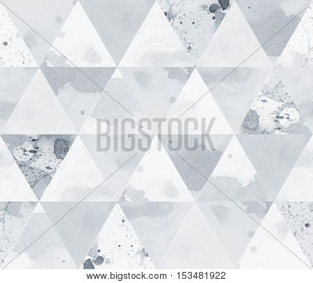 Black and white silver geometric sacral polygonal grunge textured art pattern