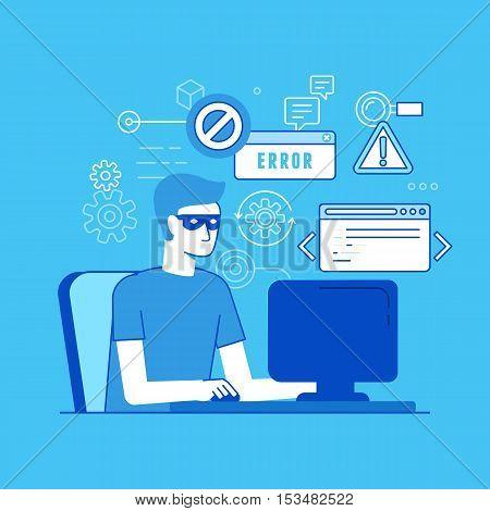 Hacker At The Computer