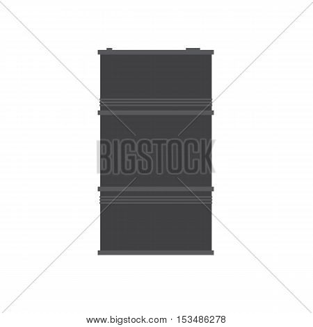 Barrel icon gray vector flat illustration of isolated on a white background