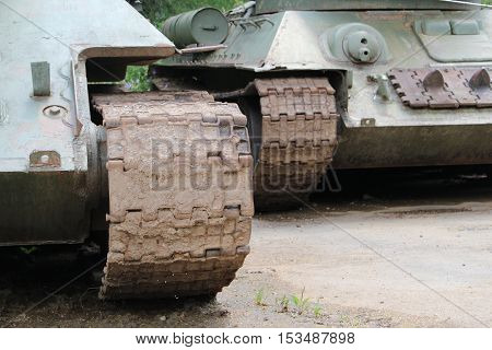 Army tank - idler wheel / This is a  detail of army tank.