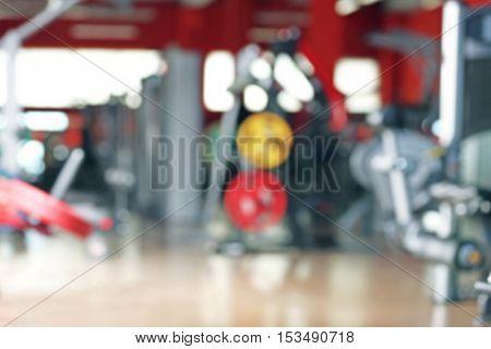 Gym interior, blurred background