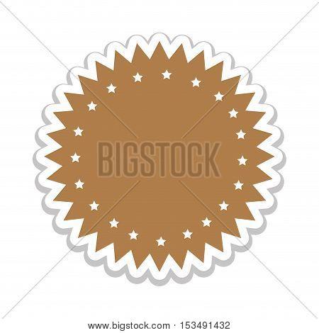 light brown emblem or label icon image vector illustration design