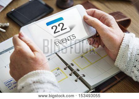 Calendar Data Mobile App Concept